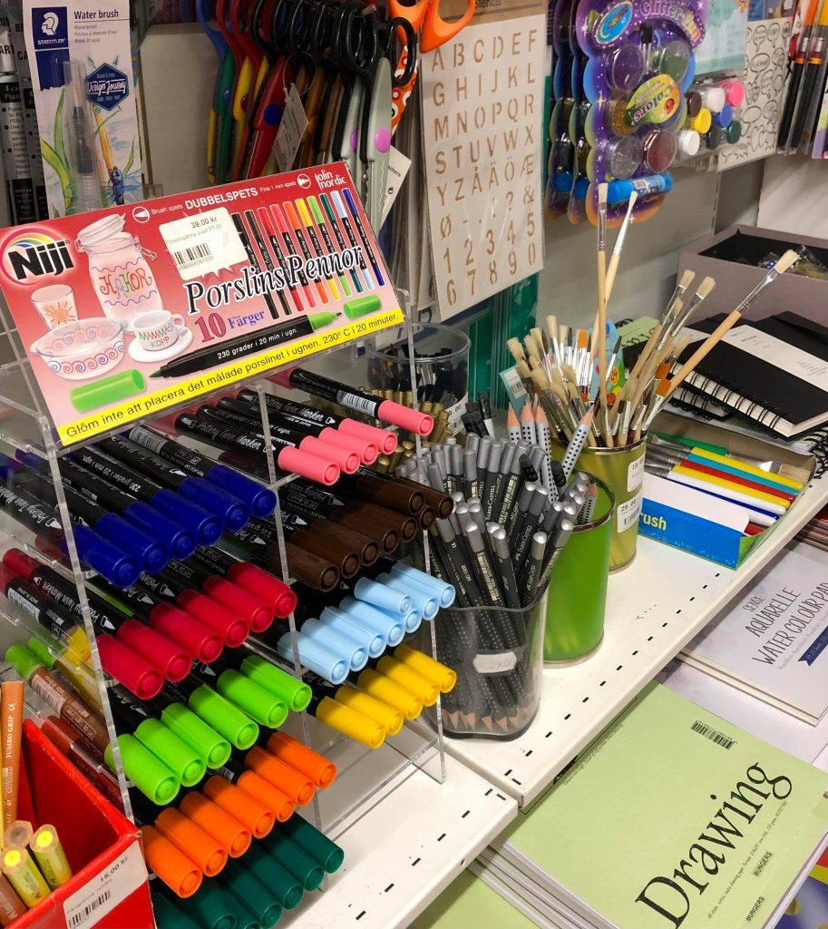 pennor i bokhandel